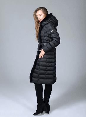 Женская длинная зимняя куртка  Сlasna черного цвета (#701) CW17D041CQL размер 54, фото 2