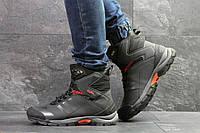 Мужские зимние ботинки на меху в стиле Adidas Climaproof, серые. Код товара Д - 6854