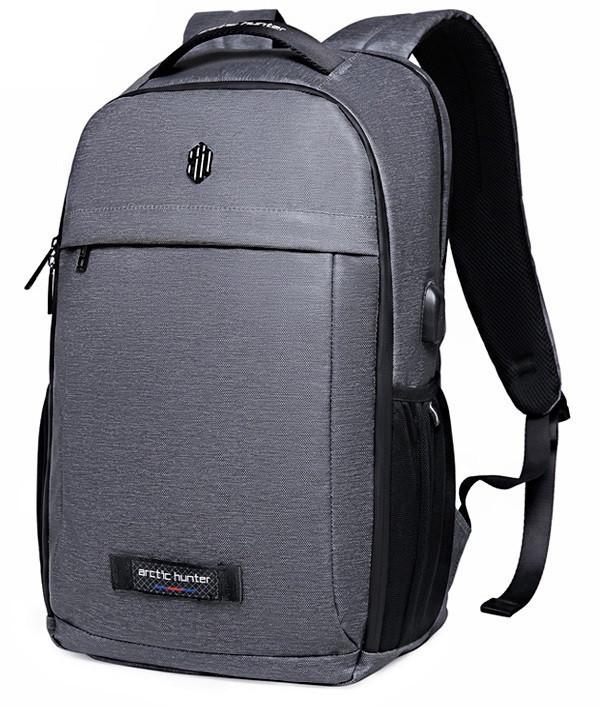 92c19310f754 Классический рюкзак для ноутбука Arctic Hunter B00251, влагозащищённый, с  USB портом, 21л -