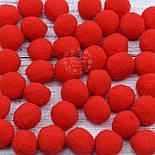Плюшевые помпоны  красного цвета 20 мм, упаковка 20 шт, фото 2
