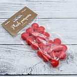 Плюшевые помпоны  красного цвета 20 мм, упаковка 20 шт, фото 4