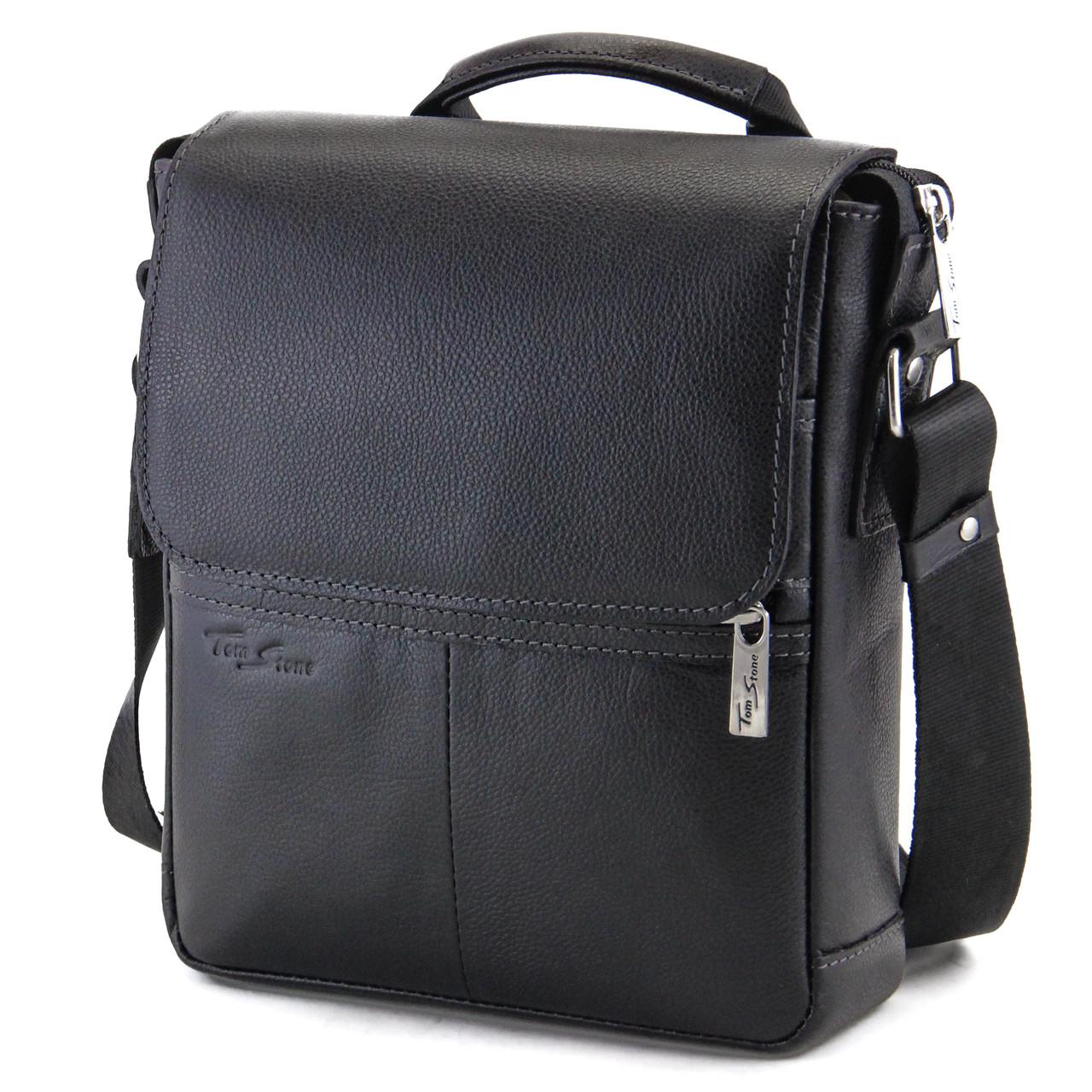 d794389d6fb6 Мужская кожаная сумка с ручкой Tom Stone, цена 2 350 грн., купить в ...