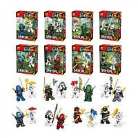 Набор из 8 конструкторов лего Ниндзяго Lele Ninja 31033
