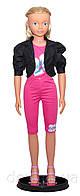 """Ходячая кукла """"Келли"""",127см, в розовом костюме с светлыми волосами."""