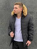 """Куртка мужская  зимняя  черная   Jacket winter """"Alaska"""", фото 3"""