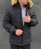 """Куртка мужская  зимняя  черная   Jacket winter """"Alaska"""", фото 2"""