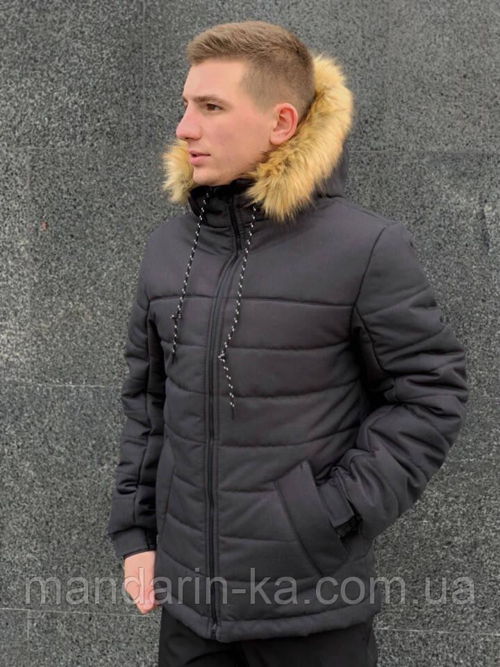 """Куртка мужская  зимняя  черная   Jacket winter """"Alaska"""""""