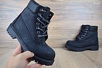Мужские зимние ботинки 42 размер Timerland Classic Boot черные Реплика, фото 1