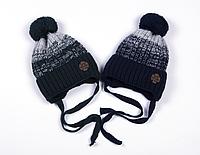 Зимняя шапка на флисе для мальчика Вектор  (ОГ 50-54)