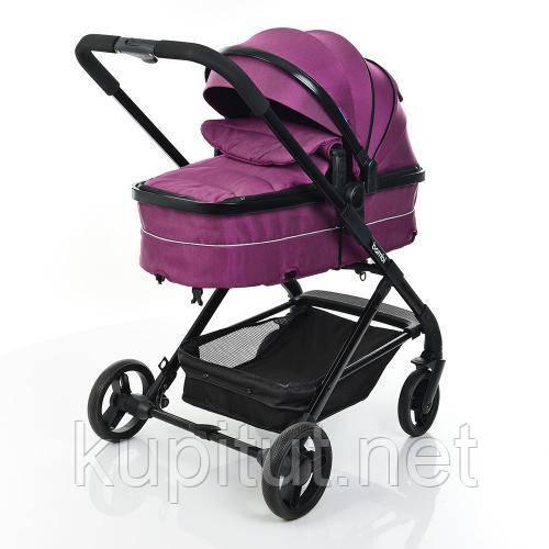 Универсальная коляска 2 в 1 Bambi M-3895 , фиолетовая