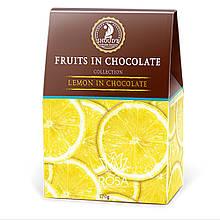 """Конфеты Лимон в шоколаде """"Сладкий мир"""", 170 грамм - Коллекция фрукты в шоколаде"""