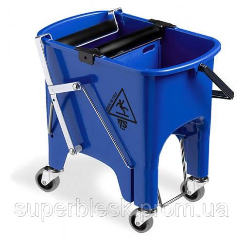 Ведро для уборки с роликовым отжимом на колесах