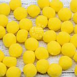 Плюшевые помпоны  жёлтого цвета 20 мм, упаковка 20 шт, фото 2