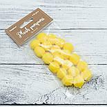 Плюшевые помпоны  жёлтого цвета 20 мм, упаковка 20 шт, фото 4