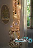 LED гирлянда верёвка с шарами 120 светодиодов. Светодиодная гирлянда. Гирлянда LED. Производство Франция.