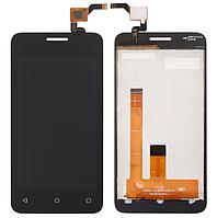 Оригинальный дисплей (модуль) + тачскрин (сенсор) для Fly FS407 Stratus 6 (черный цвет)