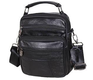 Мужская сумка-барсетка кожаная Indigo RT101-1BL черная