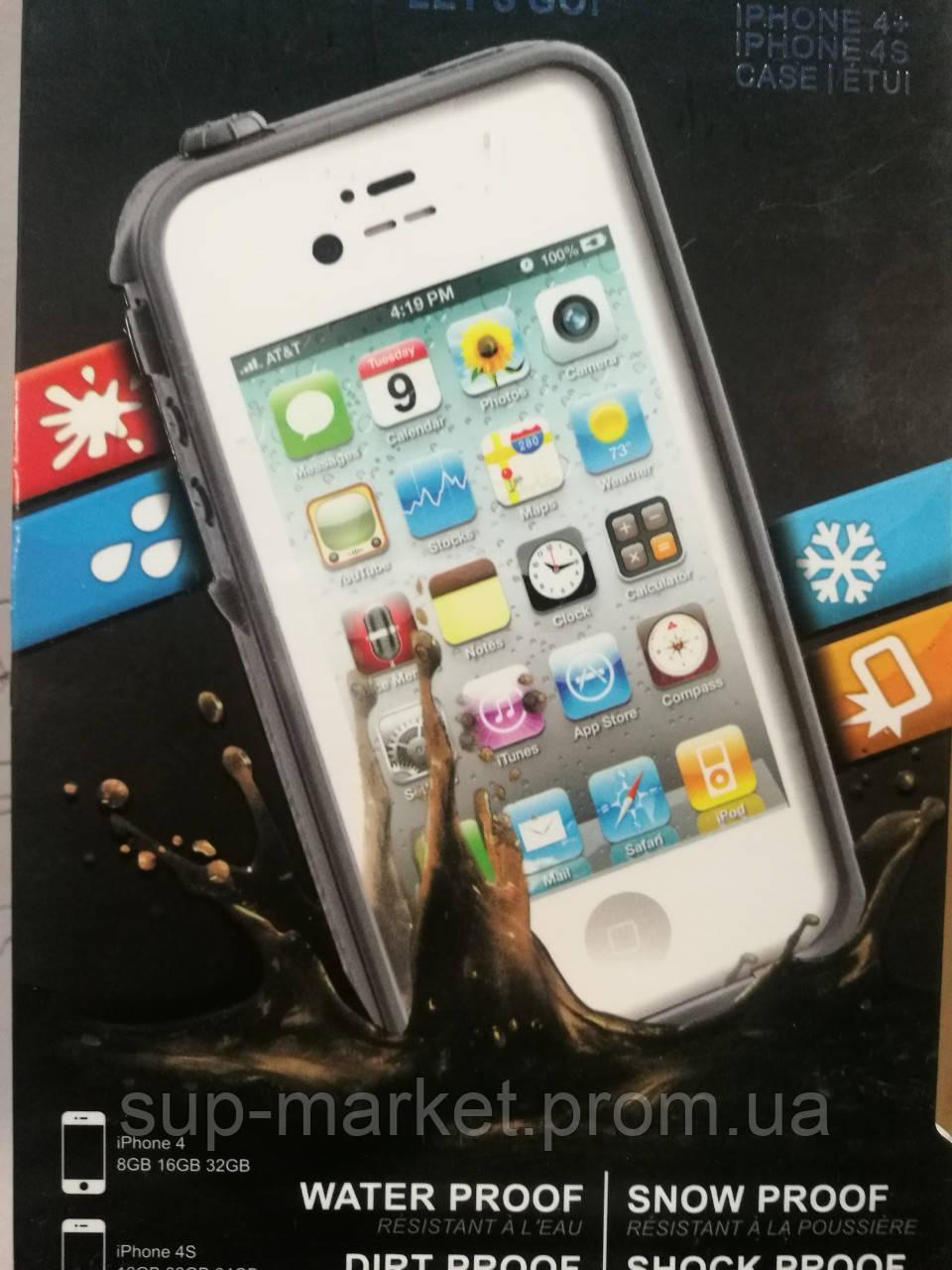 Аквапак Lifeproof fre Waterproof Protective Case For Apple iPhone 4/4S, grey