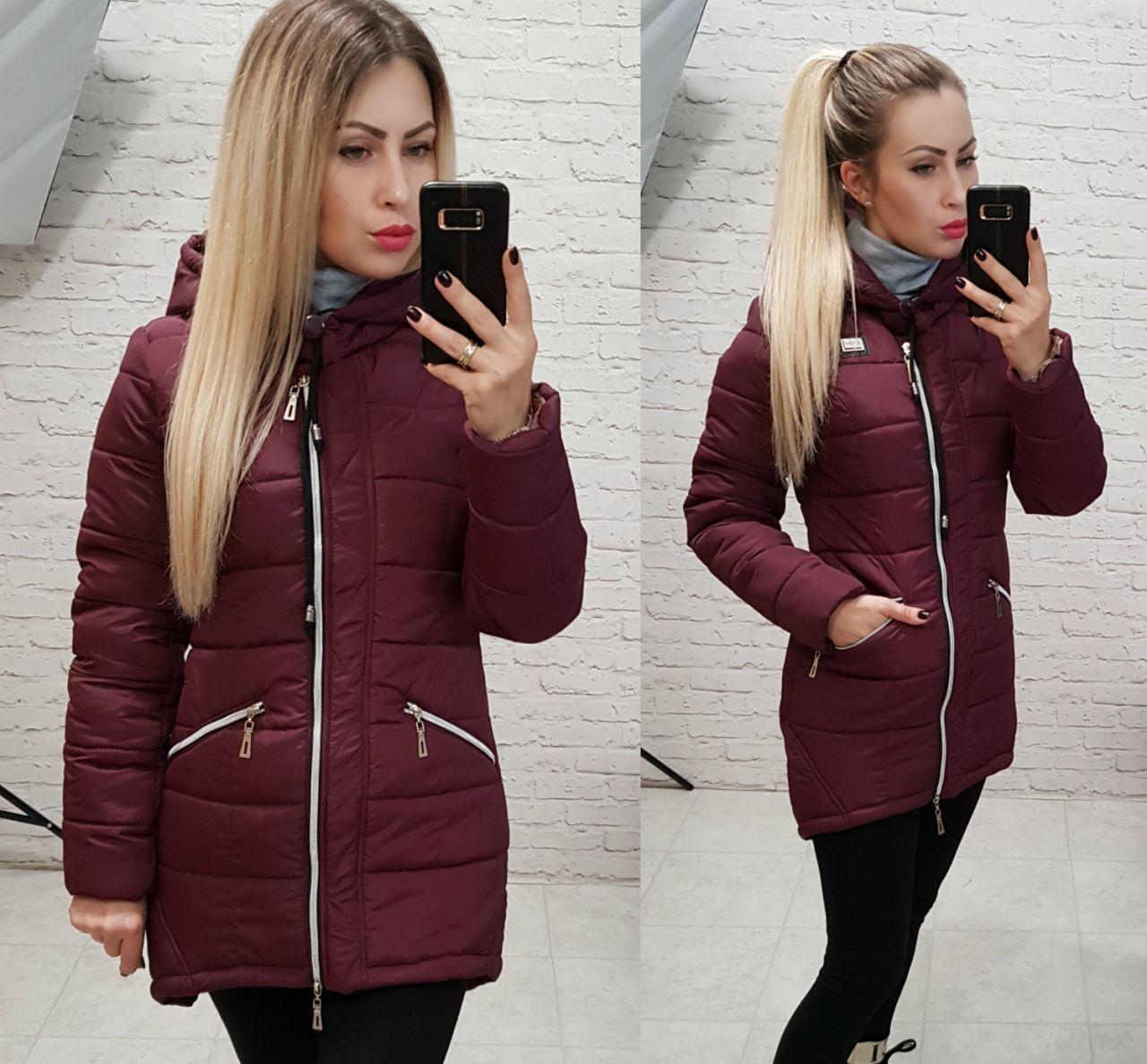 Куртка-парка зимняя, модель 204, цвет - марсала