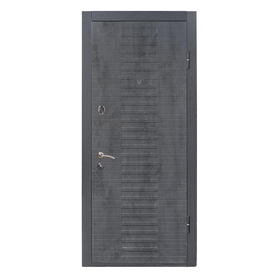 Дверь входная «Министерство дверей»— ПК-119. Бетон темный/Бетон пепельный