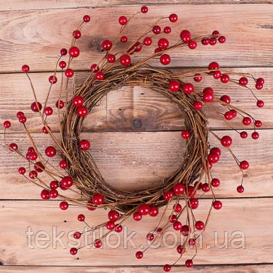 Вінок новорічний Калини 35 см Новорічний декор