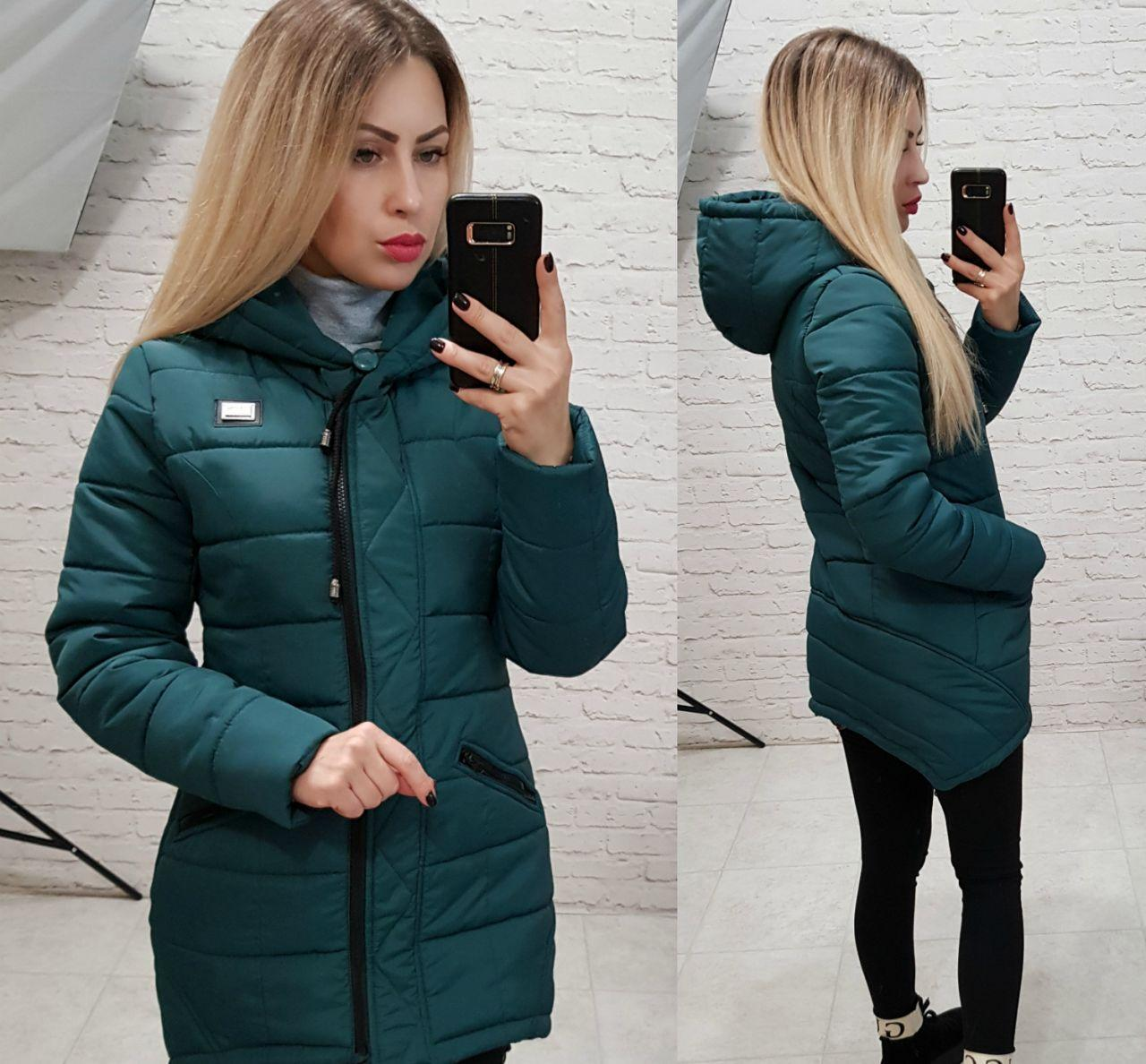 Куртка-парка зимняя, модель 204, цвет - аквамарин