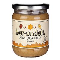 """Арахисовая паста """"с медом"""" Burunduk, 450 г"""