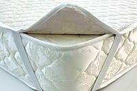 Наматрасник белый 200х200 на резинках