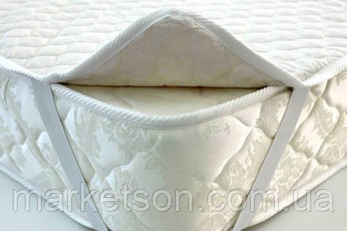 Наматрасник белый 160х200 на резинках, фото 2