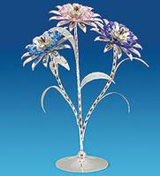 Фигурка Сваровски Букет цветов с покрытием серебром