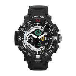 Часы наручные C-SHOCK Ferrari Inter Corsa Black-White