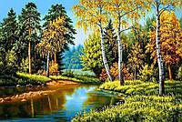Картина в алмазной живописи Осень в лесу DM-258 (30 х 50 см) ТМ Алмазная мозаика