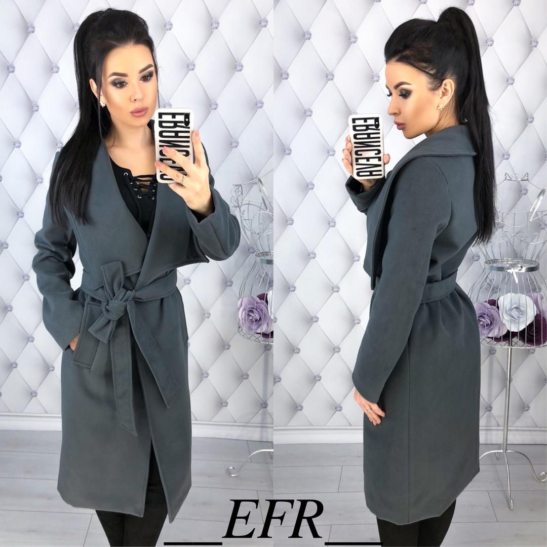 Стильное пальто с поясом   продажа d21c4899882f4