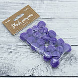 Плюшевые помпоны фиолетового цвета 20 мм, упаковка 20 шт, фото 2