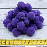 Плюшевые помпоны фиолетового цвета 20 мм, упаковка 20 шт, фото 4