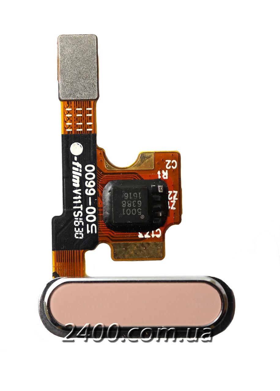 Сенсорна кнопка Xiaomi Mi5 – шлейф Xiaomi Mi5 + кнопка Home для Ксіомі Мі5 (Mi 5) золота