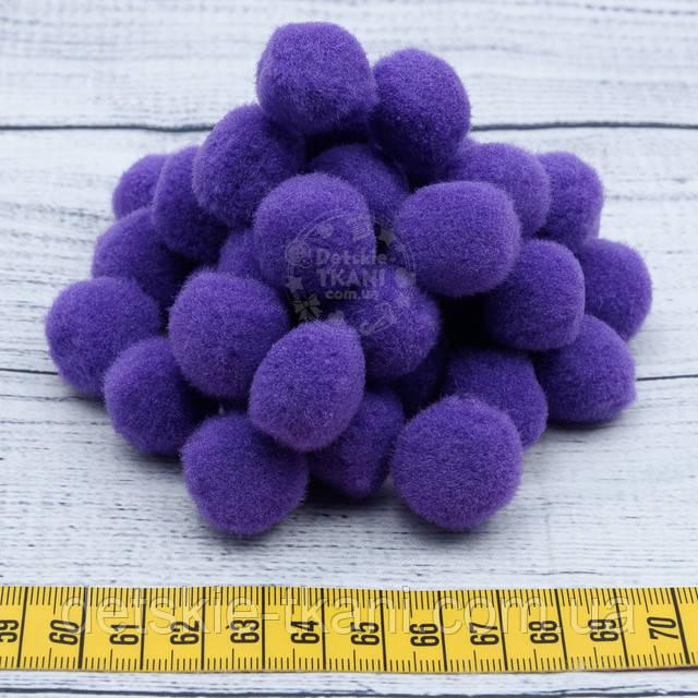 Фиолетовые помпоны