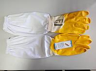 Перчатки пчеловода LYSON с нарукавниками, резиновые