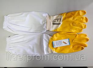 Перчатки пчеловода LYSON с нарукавниками, резиновые, фото 2