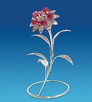 Фигурка Сваровски Цветок с покрытием серебром