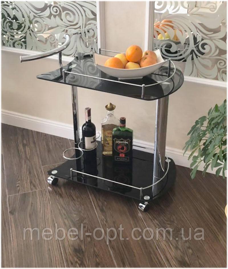 сервировочный столик W 27 Sc 5066 Bg стеклянная сервировочная тележка черная