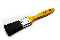 Кисть флейцевая черный искусственный ворс 1,5''