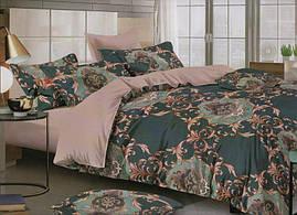 Комплект постельного белья евро-размер с шикарными вензелями