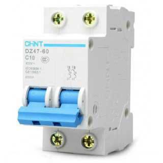 Автоматический выключатель Chint DZ47-60 4,5kA, х-ка B, 10А, 2P, 188104, фото 2