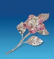 Роза Сваровски с покрытием серебром