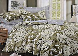 Набор постельного в зеленом успокаивающем цвете с узором