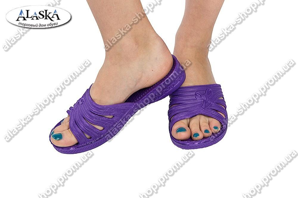 Детские шлепки фиолетовые (Код: ППЖ-16)