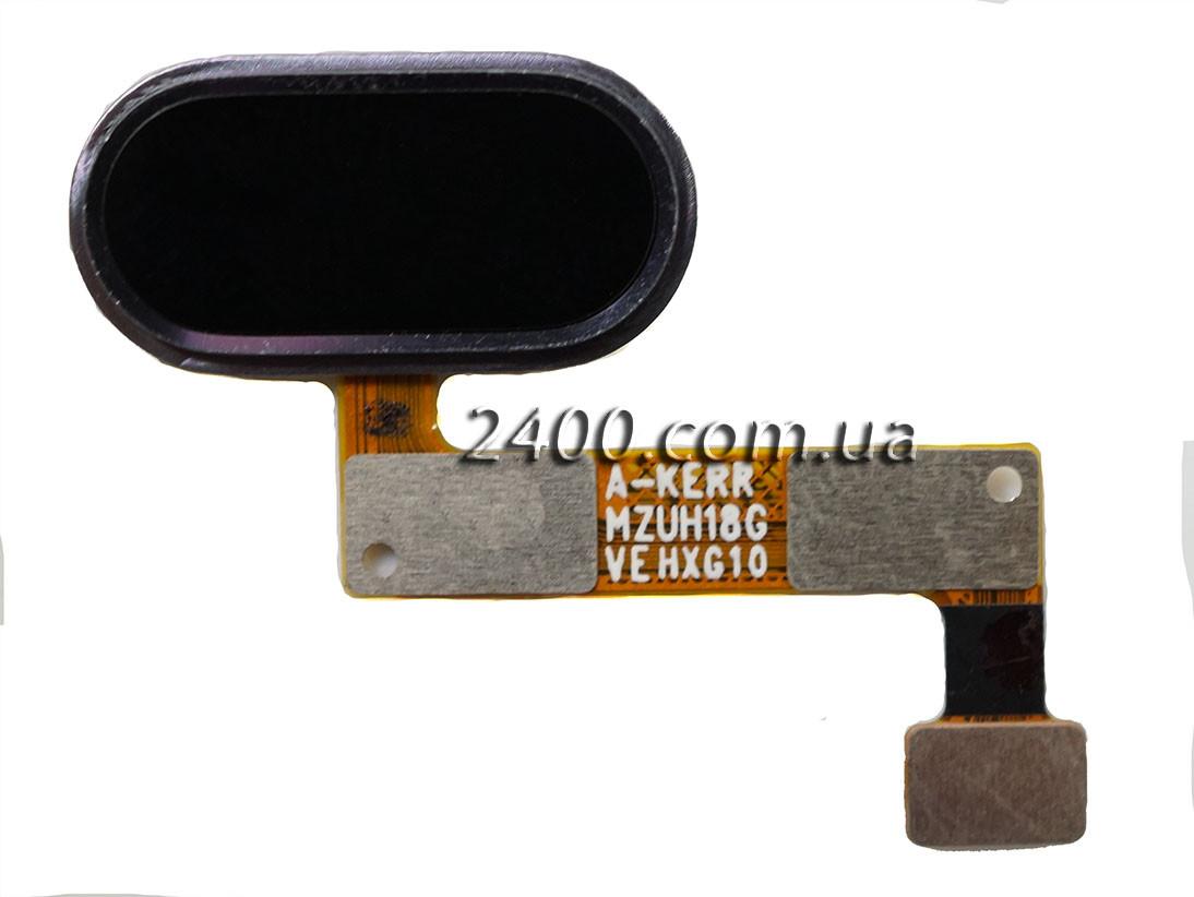 Cенсорная кнопка для Meizu M5 Note черная – кнопка меню мейзу м5 ноте