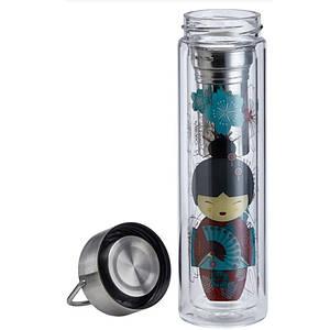 Бутылка стеклянная на чай с чехлом Eigenart Гейши
