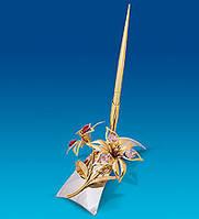 Позолоченный письменный набор Сваровски Лилия